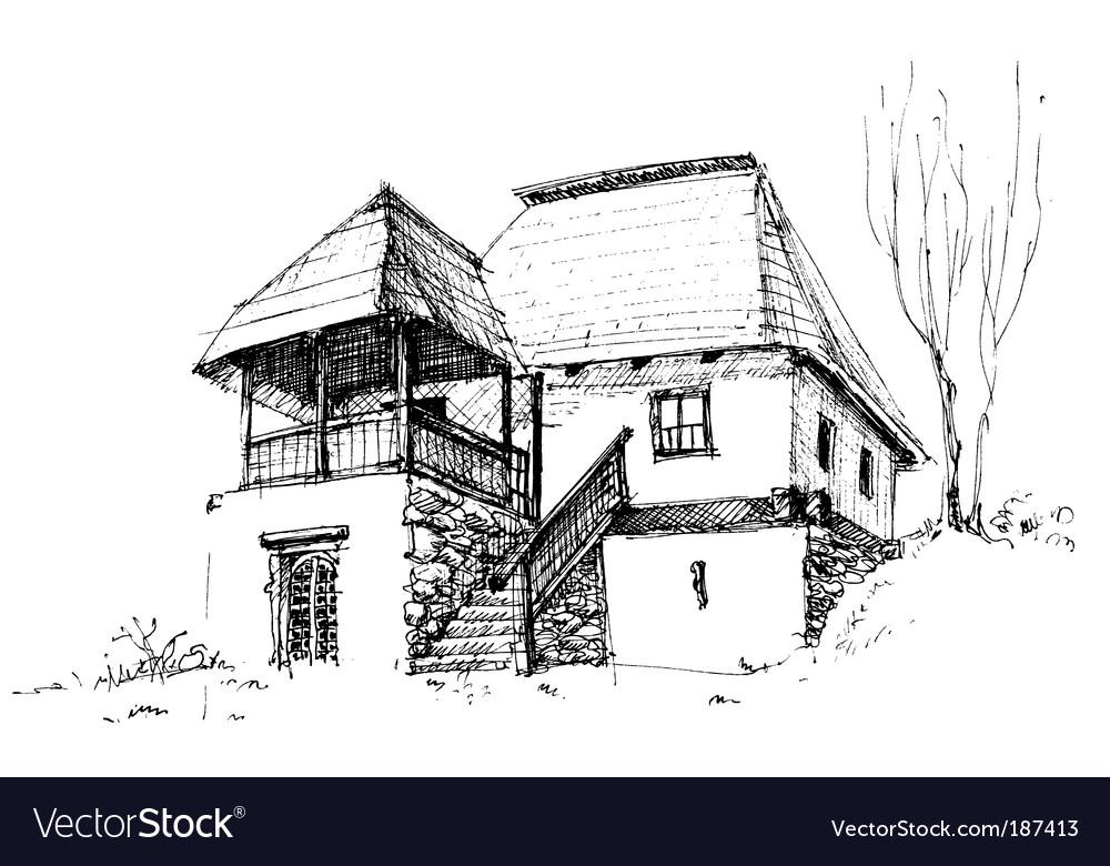 Rural house sketch