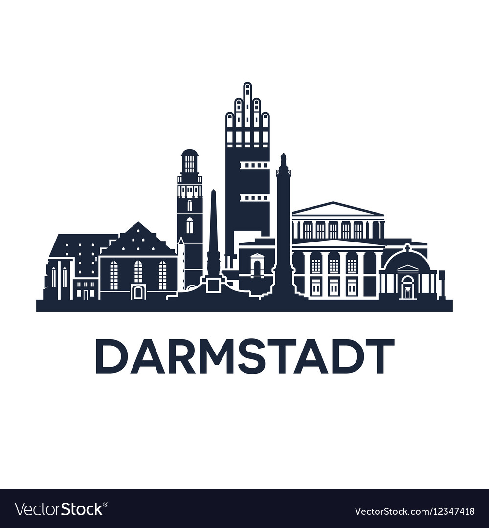Darmstadt Skyline Emblem