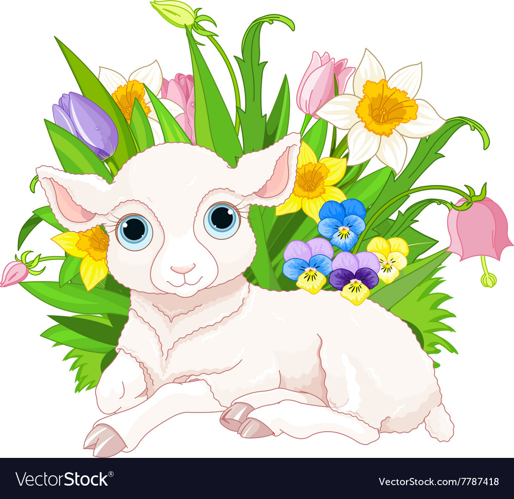 Easter Sheep vector image