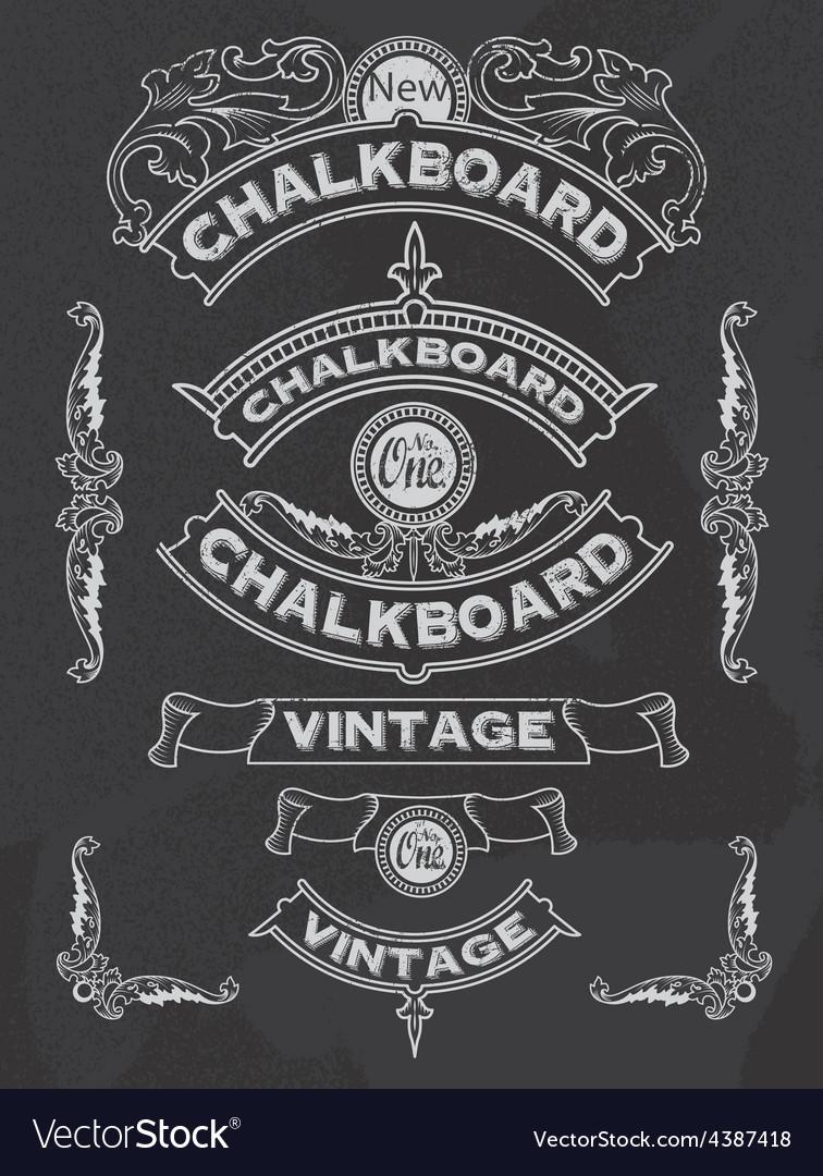 Floral decorative chalkboard banner and ribbon set