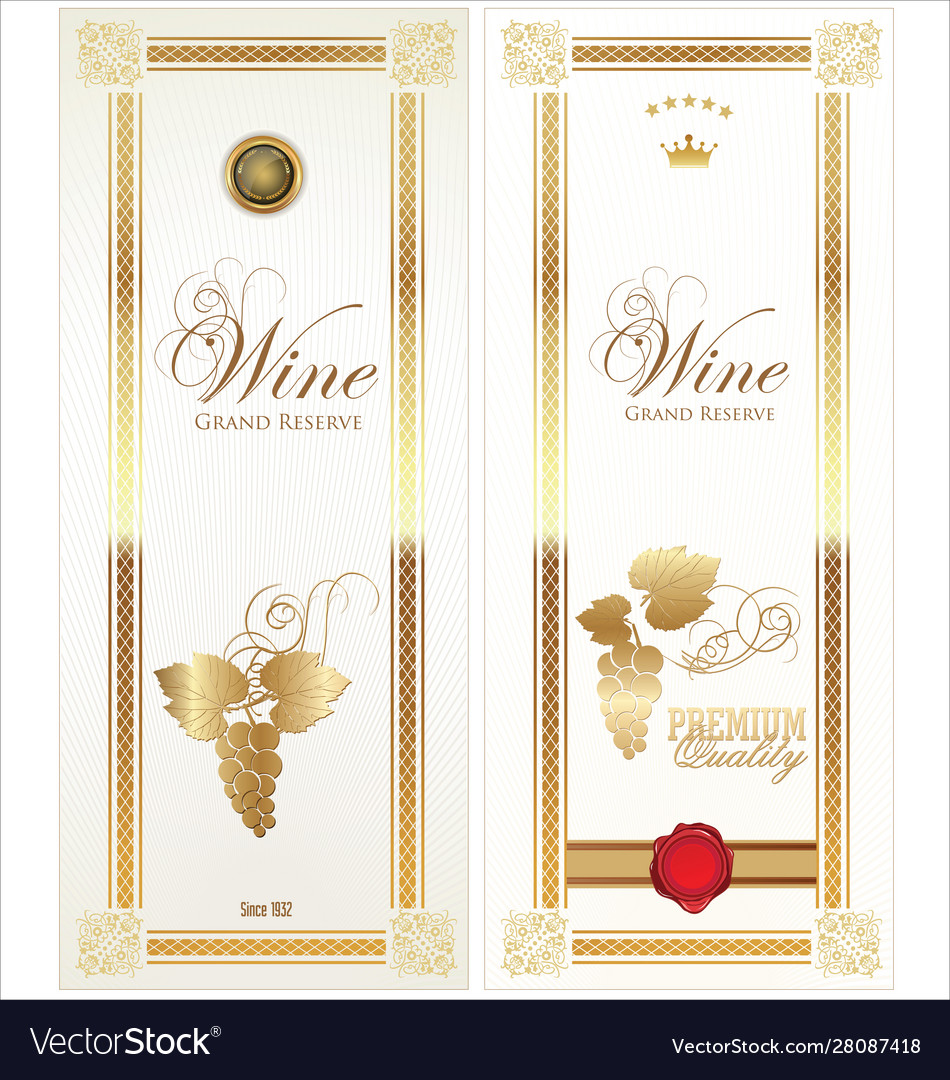 Golden wine card
