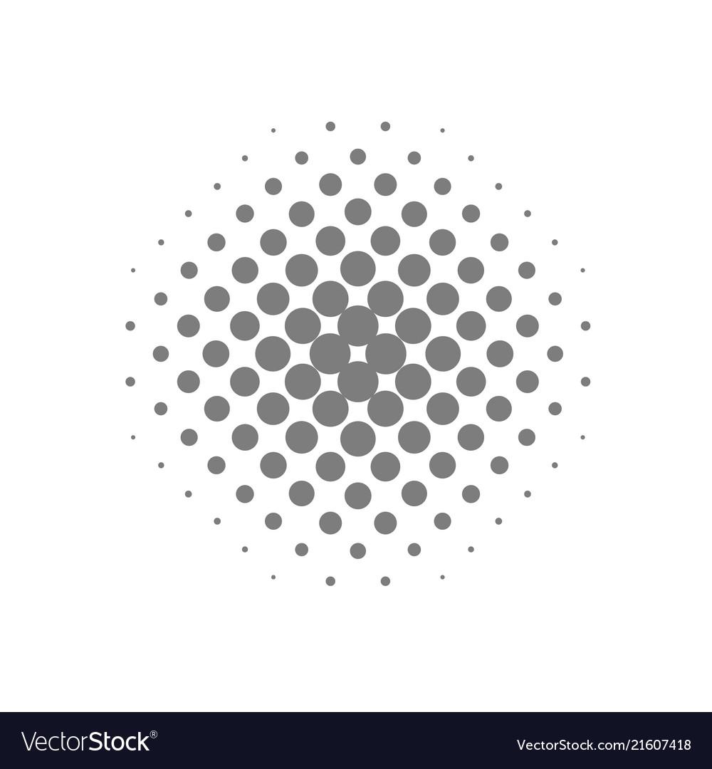 Grey circle halftone