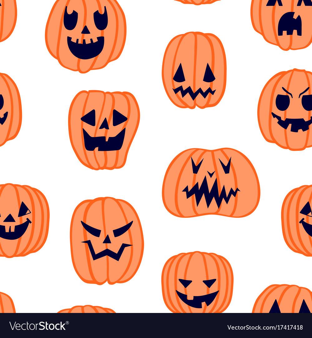 Halloween scary pumpkin pattern 5