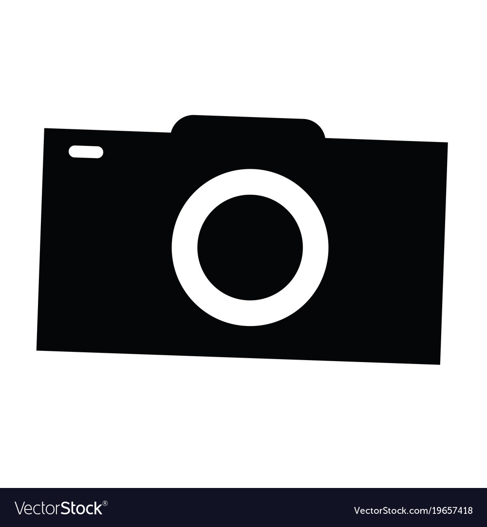 isolated camera silhouette royalty free vector image rh vectorstock com vector camera outline vector camera system