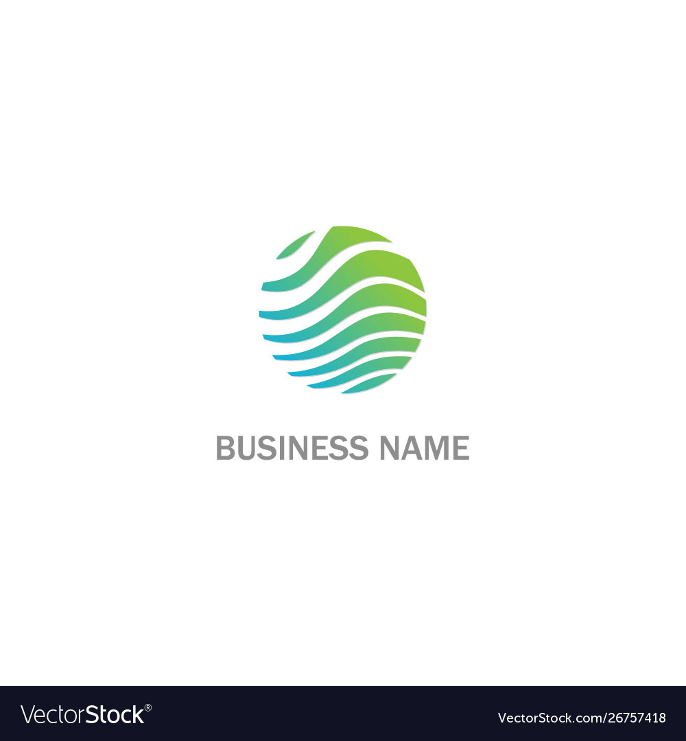 Round wave eco abstract business logo