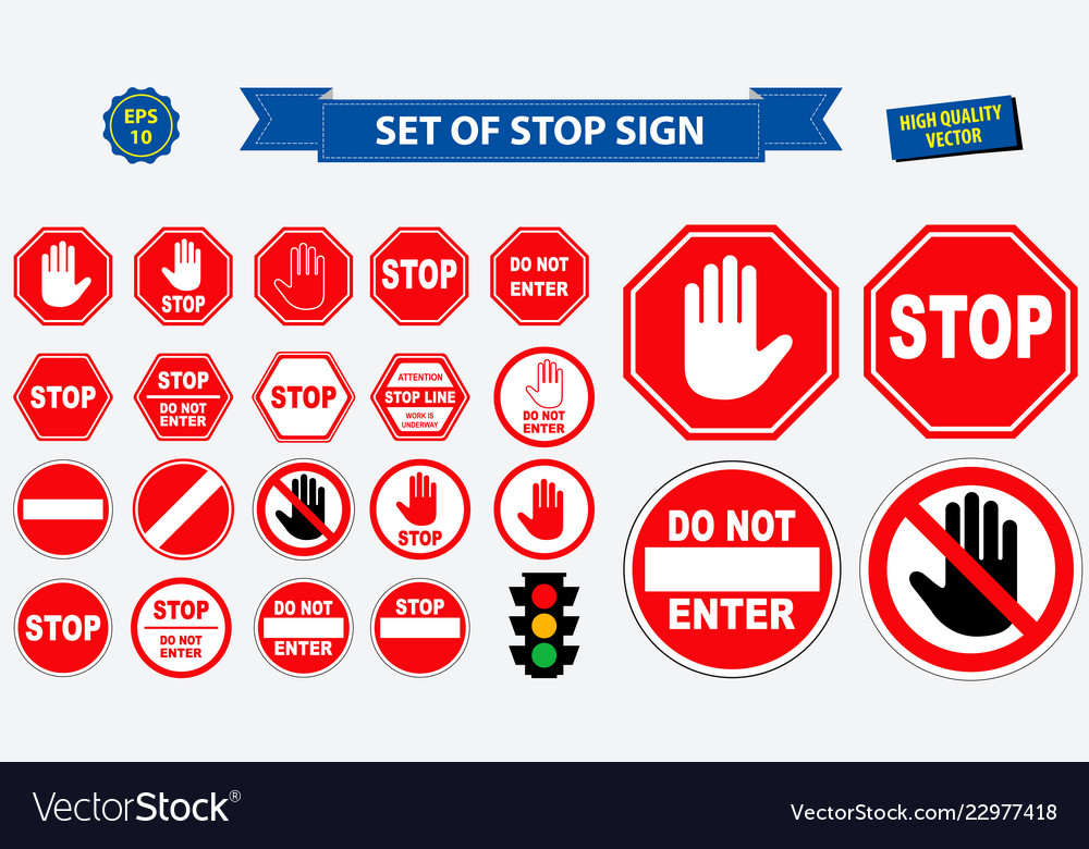 Set of stop sign