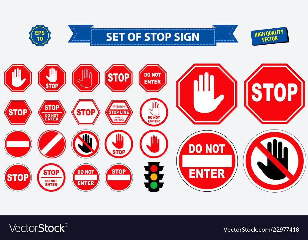 Set stop sign