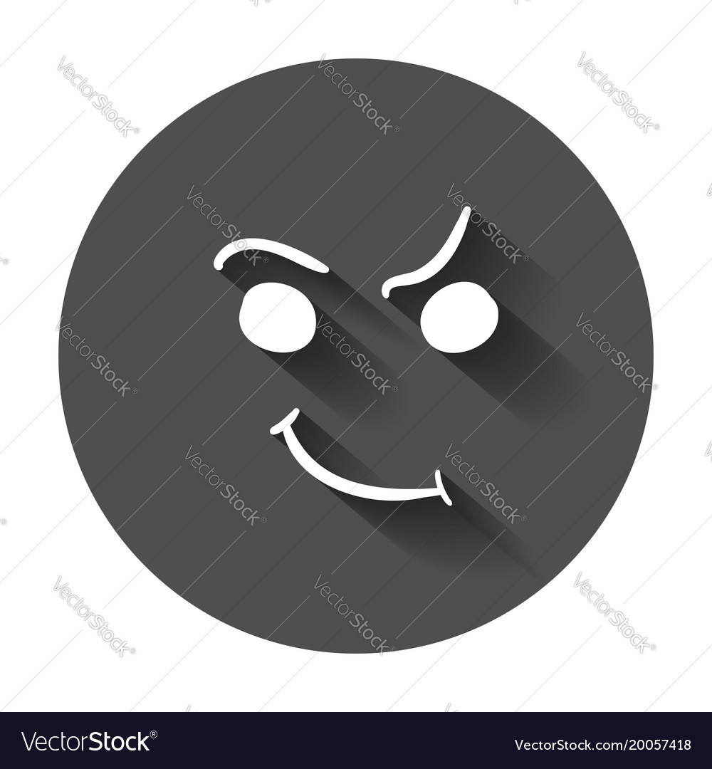 Simple smile icon hand drawn face doodle with