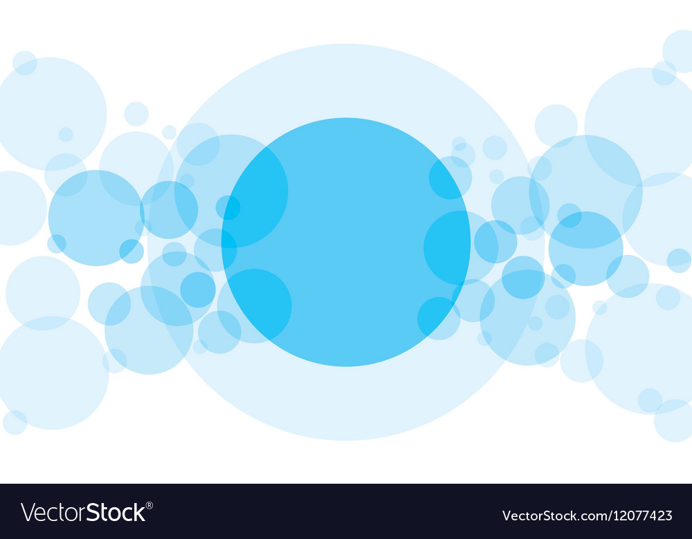 Abstract Background With Blue Transparent Circles