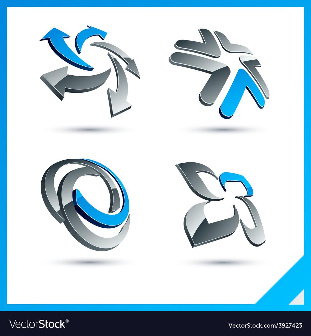 Blue 3d company signs