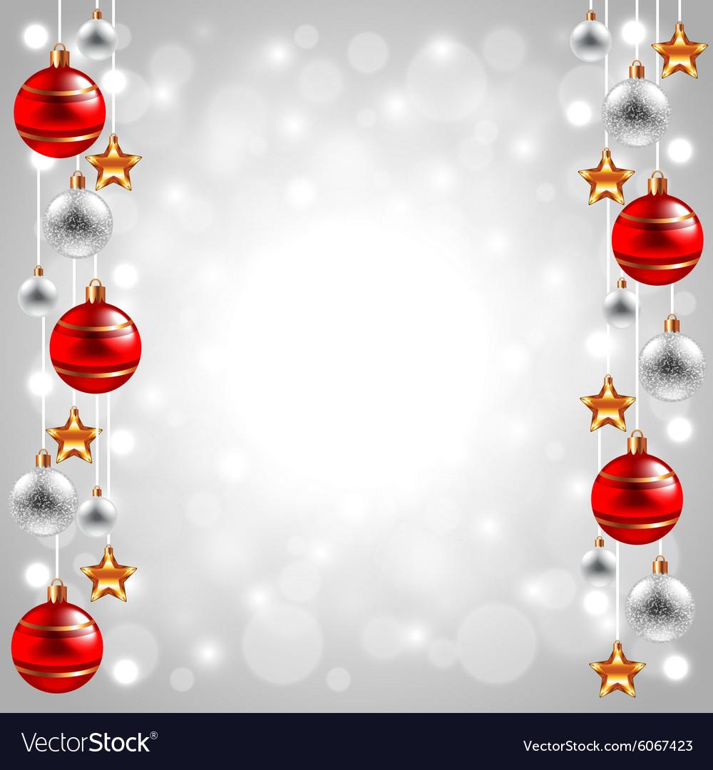 Christmas balls on white winter background