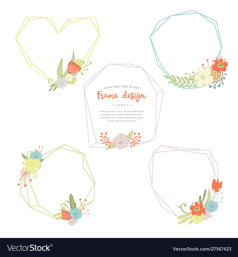 Geometric and poligonal frames and bouquets