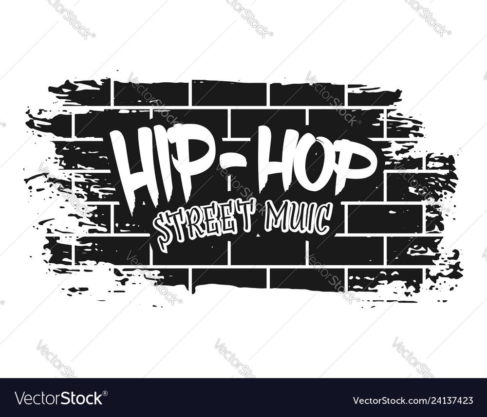 Graffiti on brick wall black
