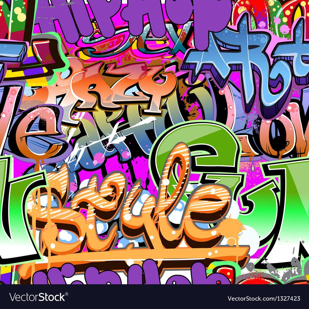 Graffiti wall urban background seamless