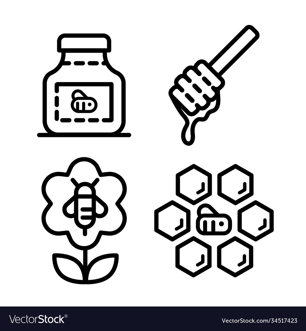 Honey outline icons