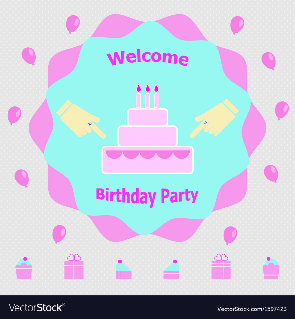 Invitation message for birthday party royalty free vector invitation message for birthday party vector image filmwisefo