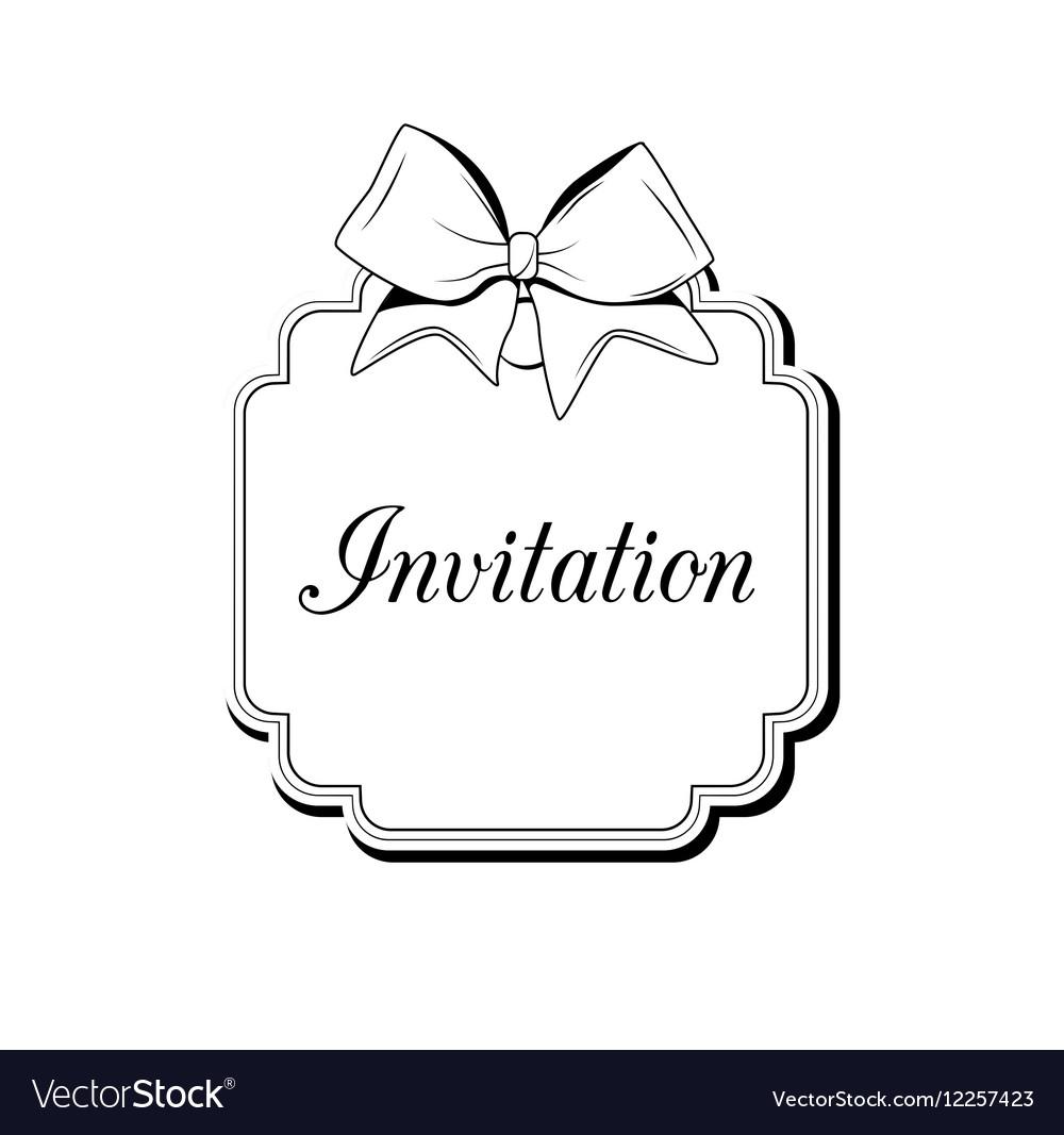 Label Ribbon Bow Wedding Invintation Template