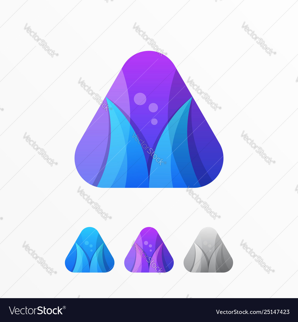 Media communication logo abstract symbol template