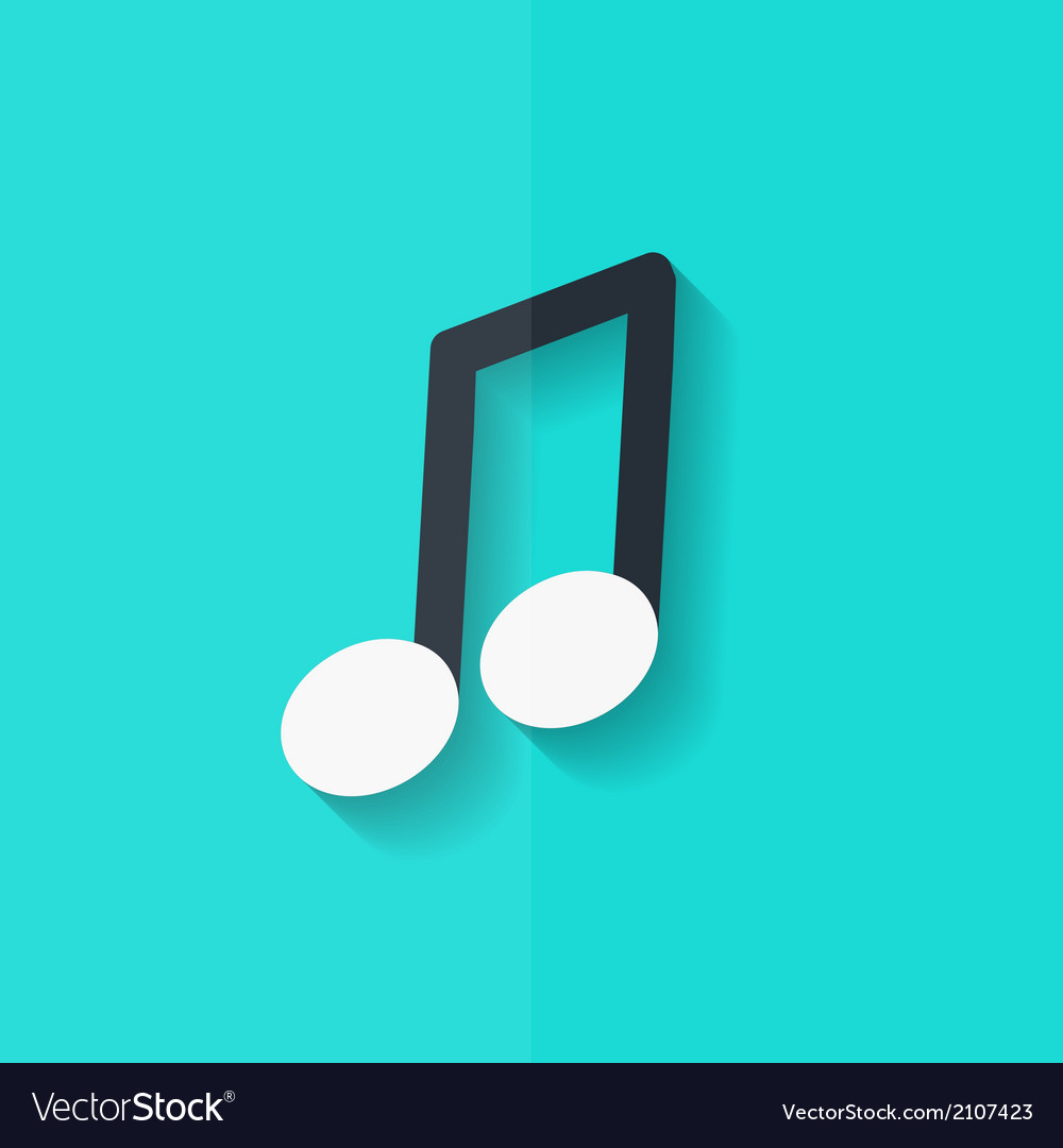 Music note icon Musical background Flat design