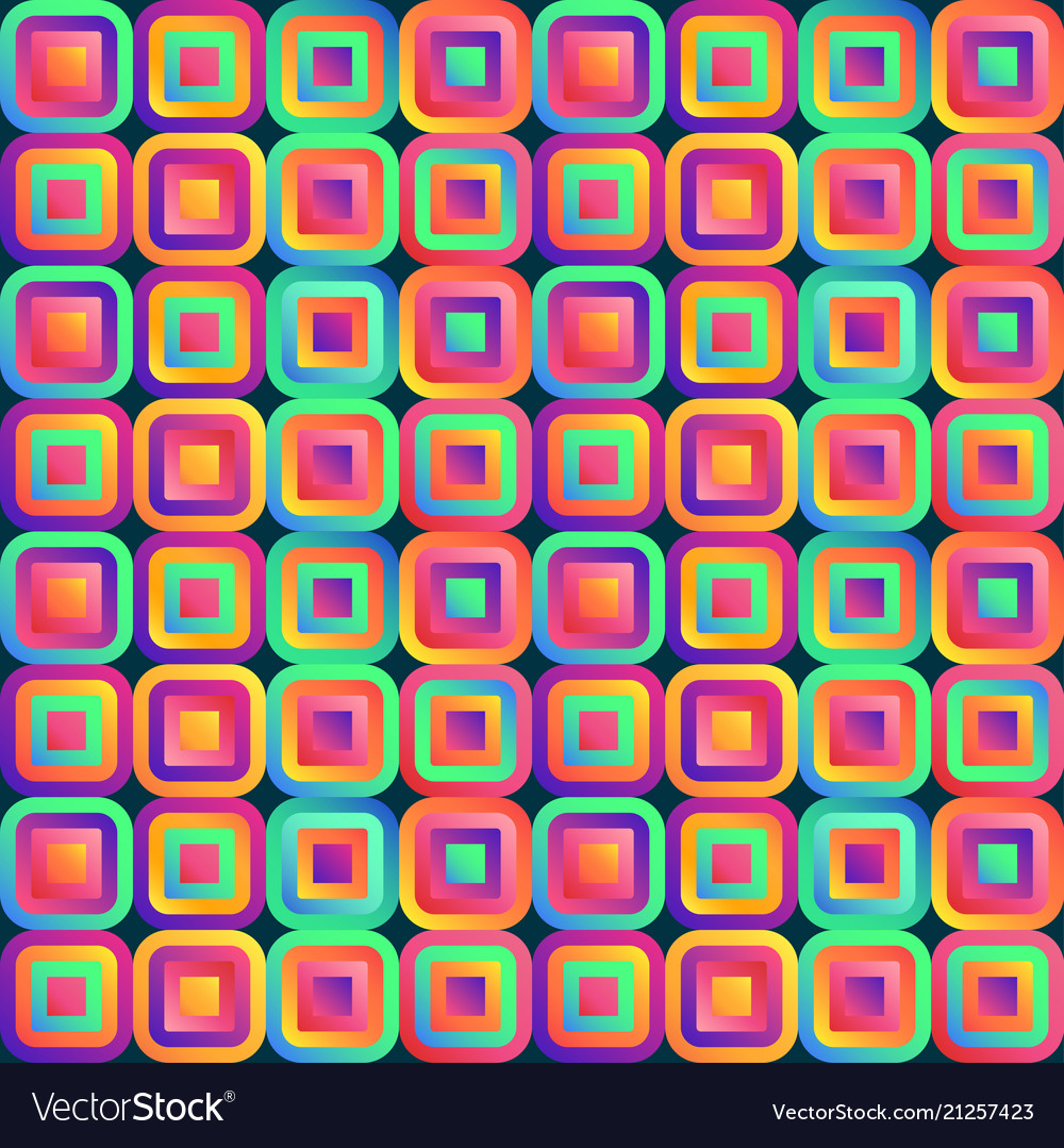 Vivid abstraction with multicolored cubes arranged