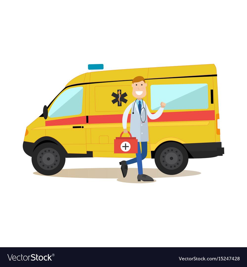 Ambulance staff concept in