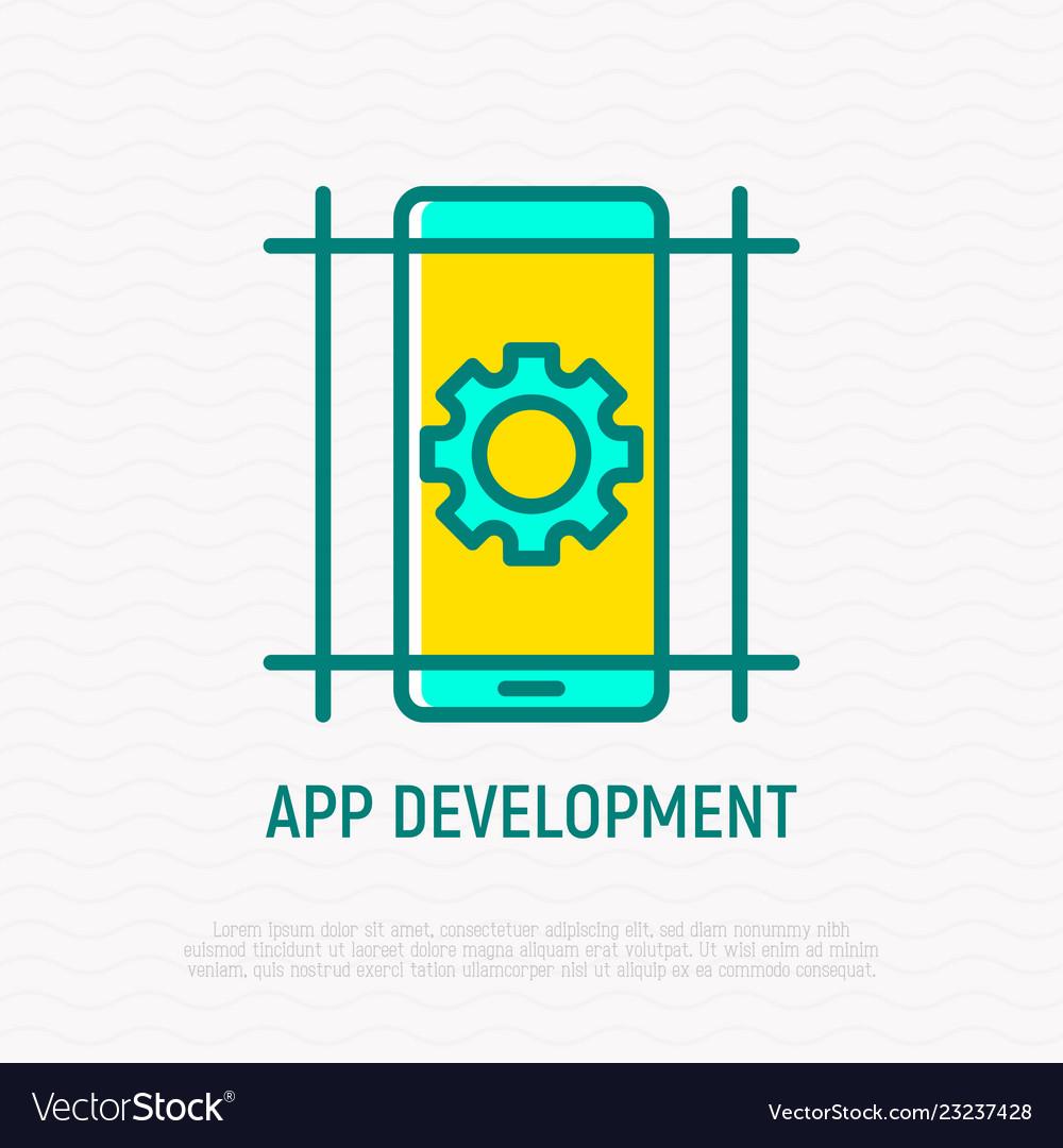 App development thin line icon