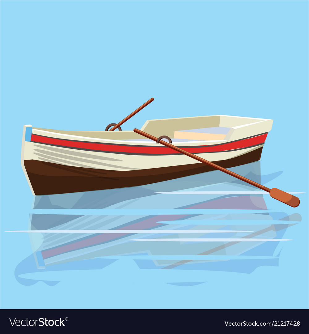 Boat with oars rest travel