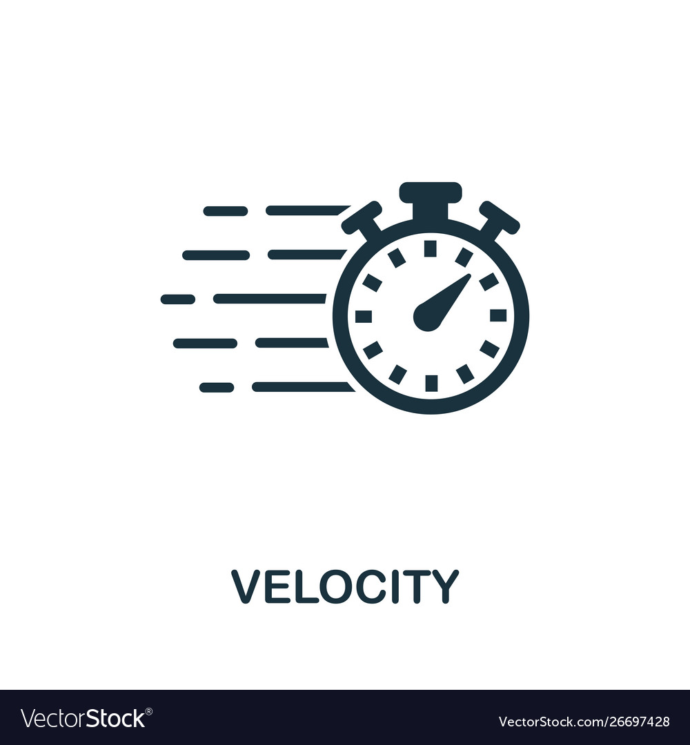 Velocity icon symbol creative sign from agile