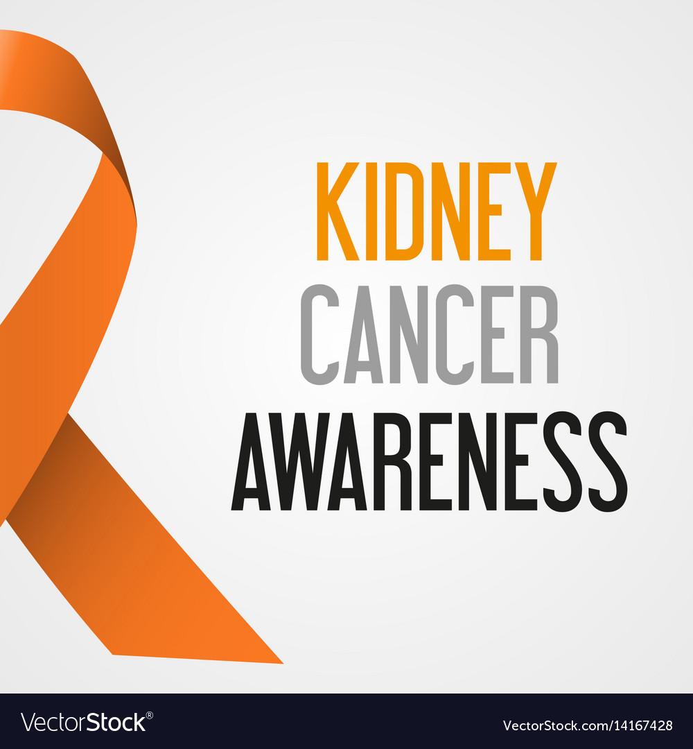 World Kidney Cancer Day Awareness Poster Eps10 Vector Image