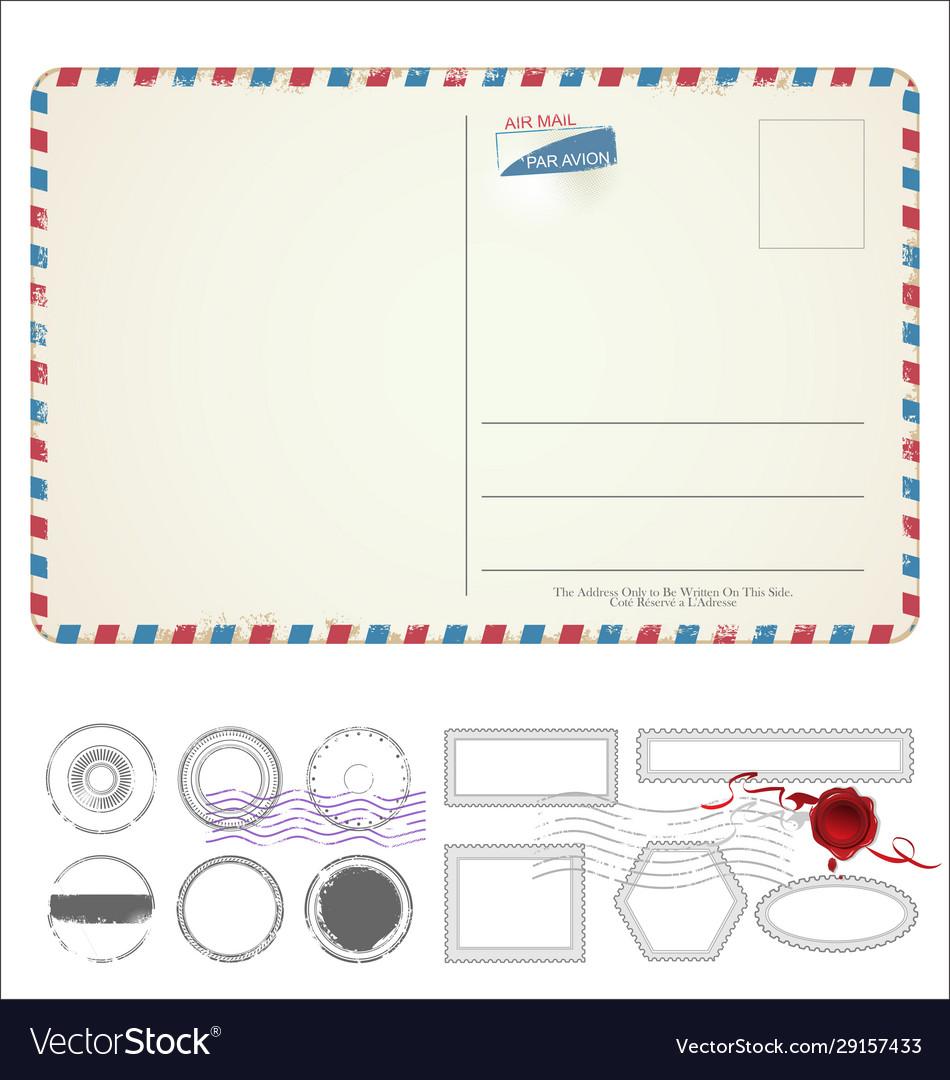 Empty post card retro vintage design 0113