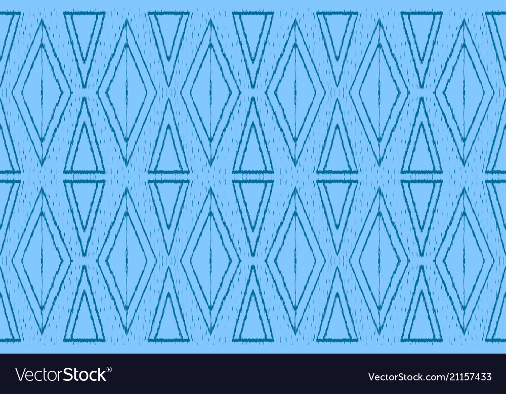 Ethnic ornament for fabric ikat seamless pattern