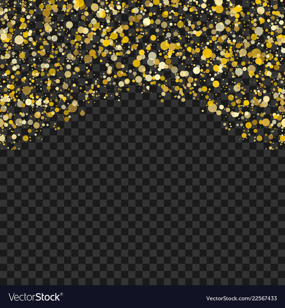 Golden dots isolated on tranparent background