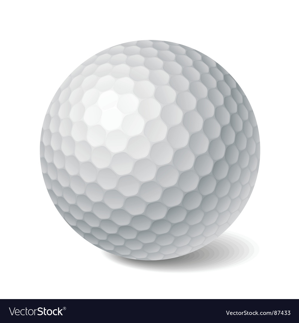 golf ball royalty free vector image vectorstock rh vectorstock com Golf Ball Graphic Golf Ball On Tee in Grass