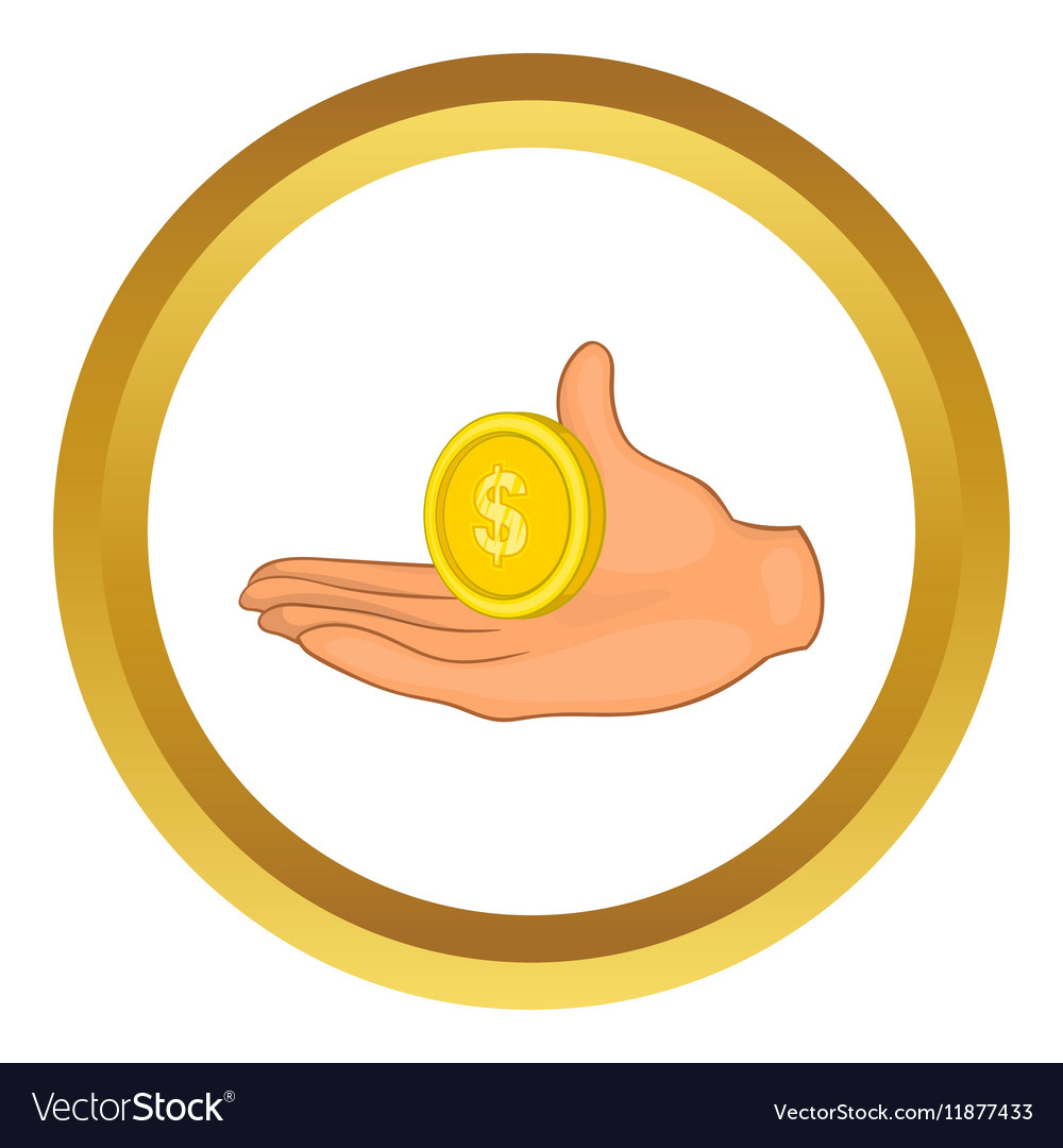 Hand with coin icon