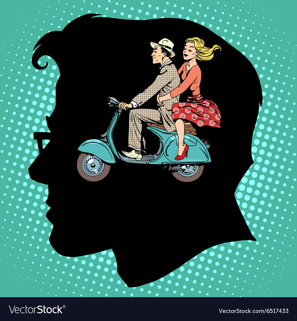 Jealousy love male female vector image