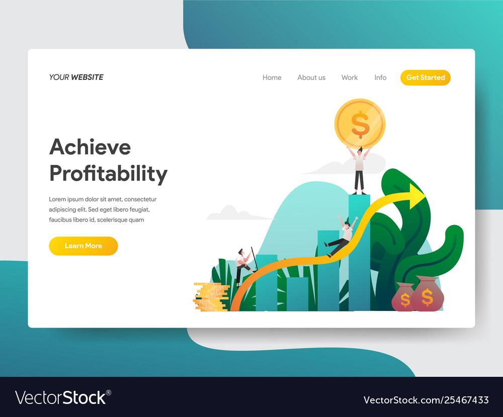 Landing page template achieve profitability