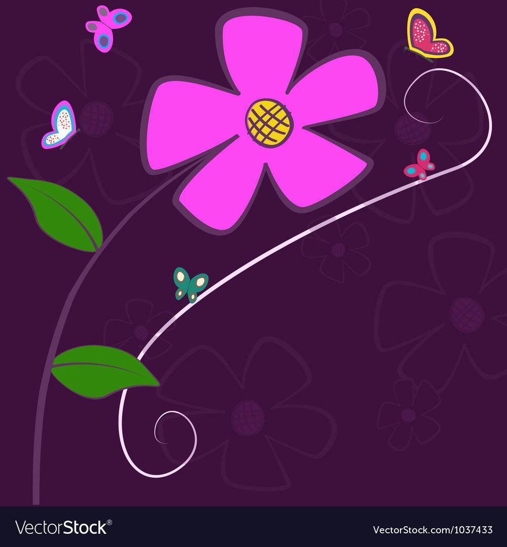 Lilac Flower Card