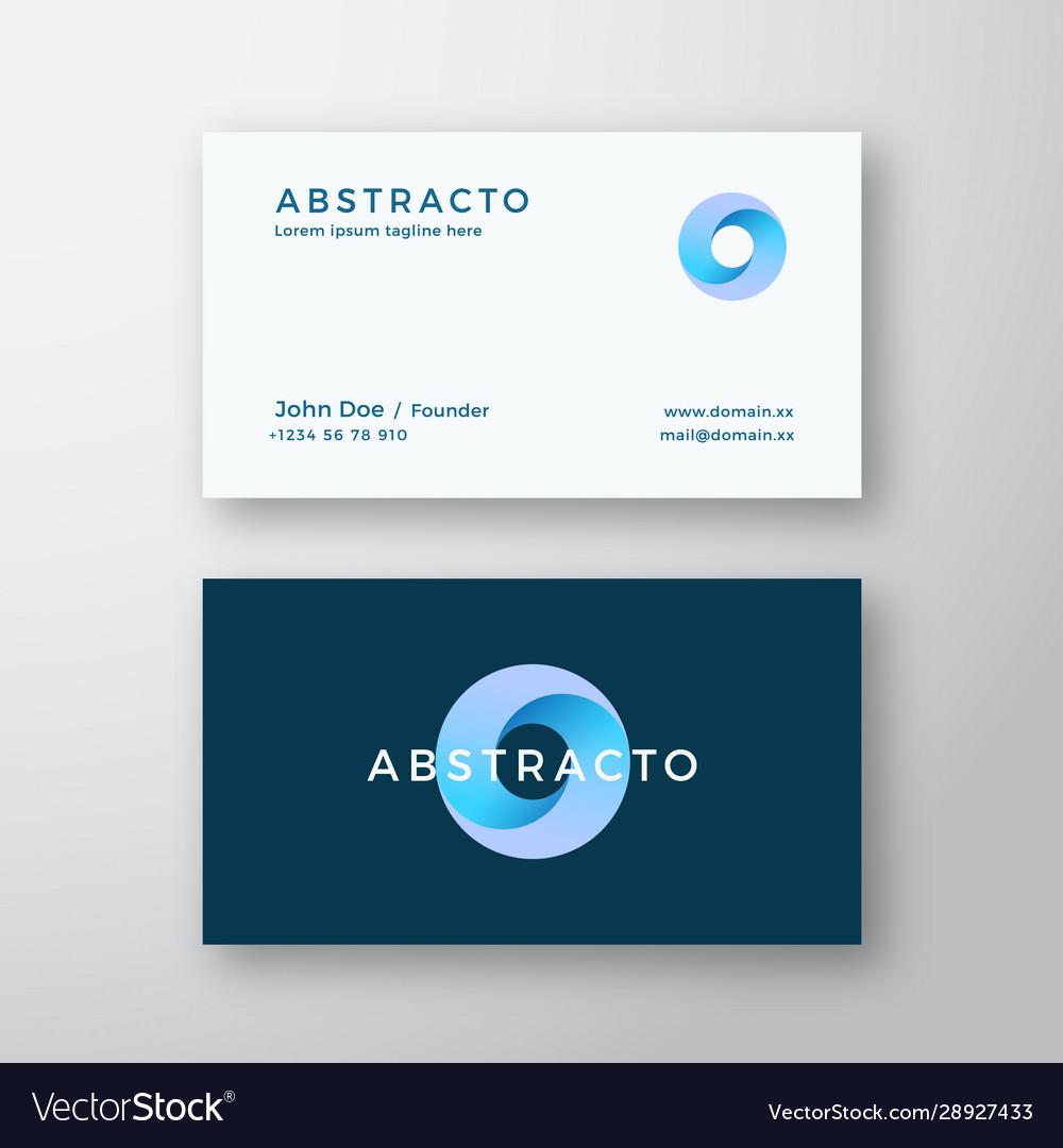 Loop circle abstract sign or logo and