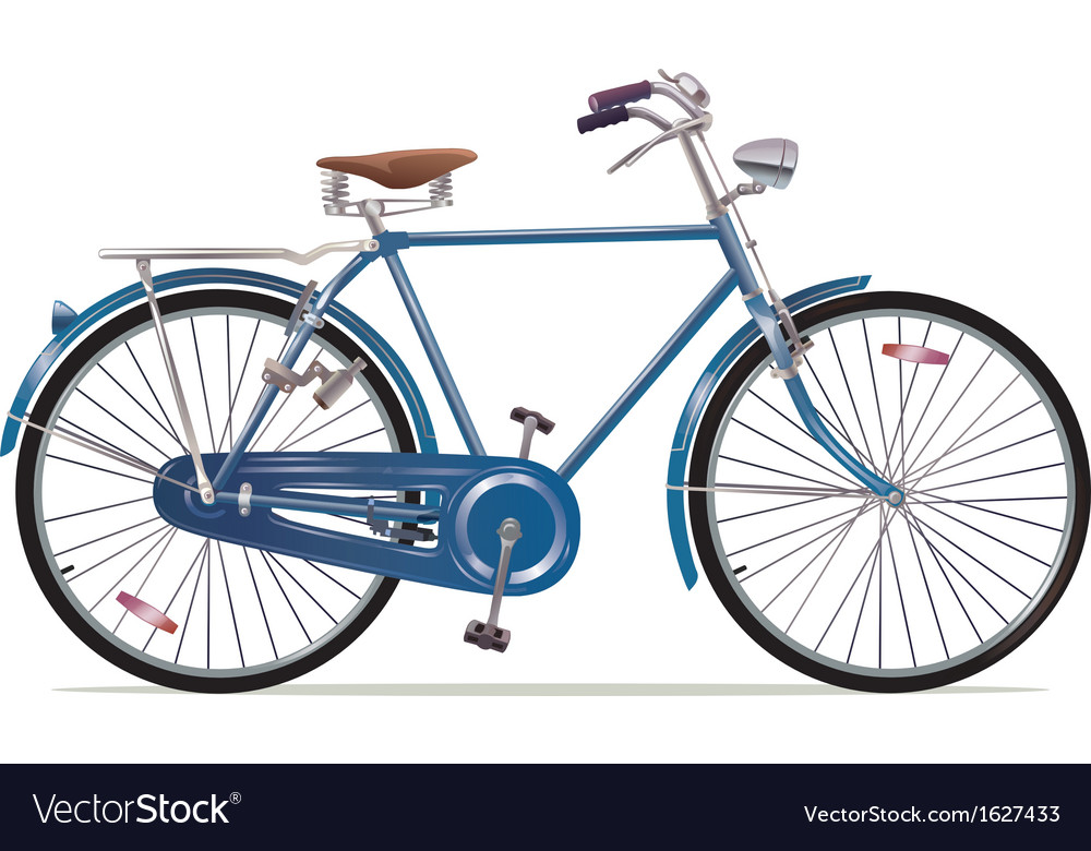 Old Style Retro Bicycle vector image