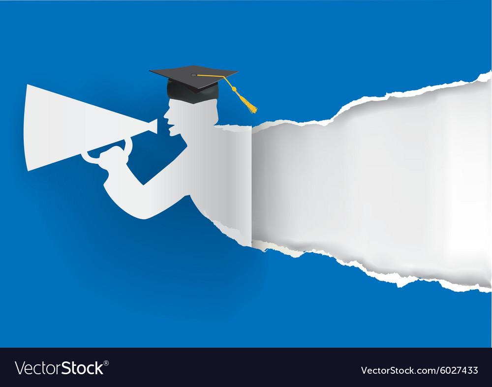 Paper graduate ripping paper