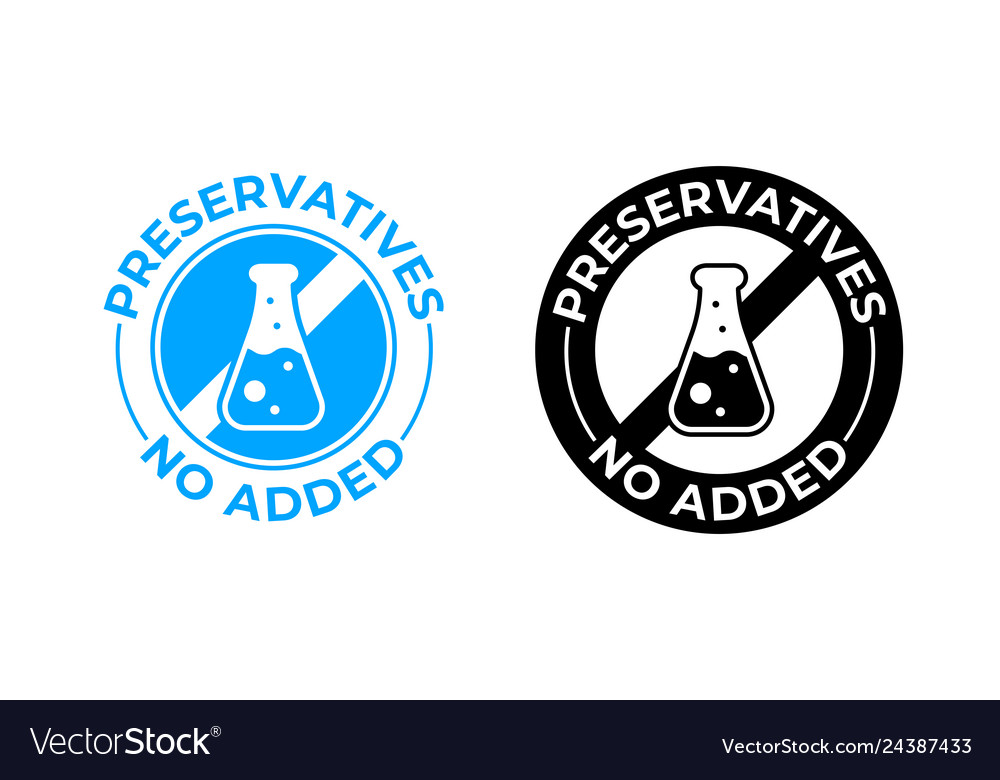 Preservatives no added icon medically tested