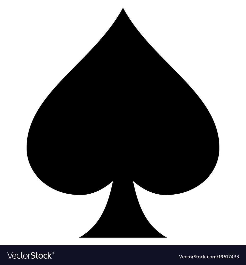 Spades suit flat icon