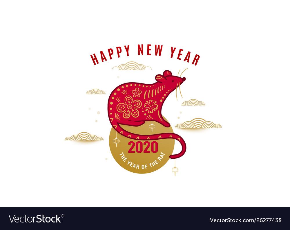 2020 rat happy new year background chinese
