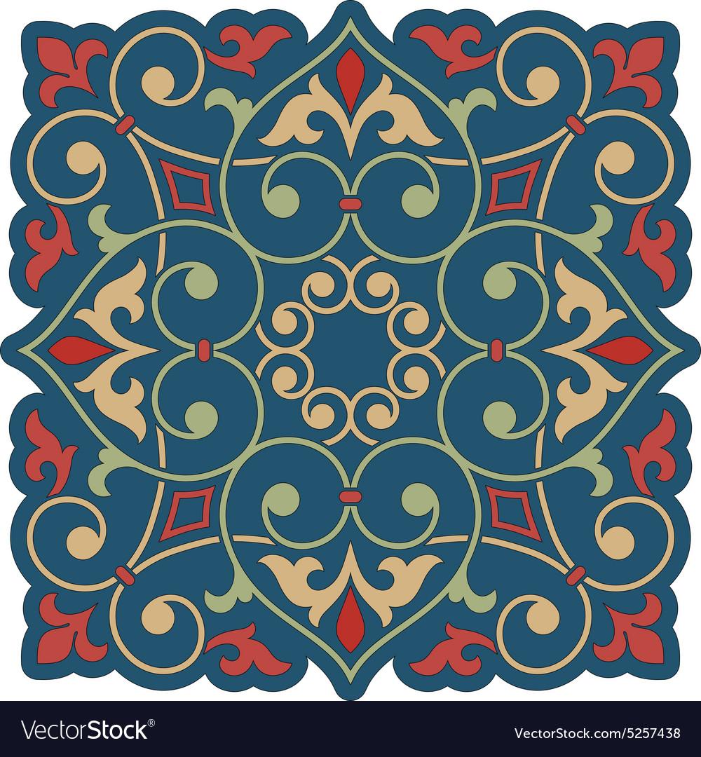 Arabic floral element for design