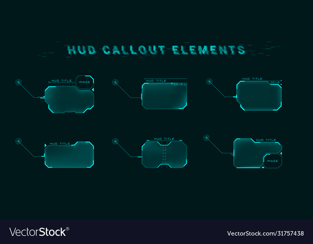 Callout screen interface in hud style set of