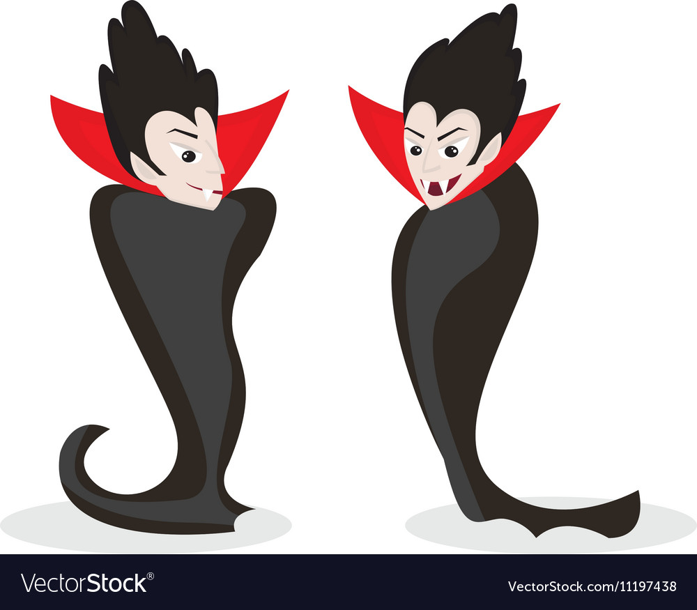 Dracula character isolated on white vector image