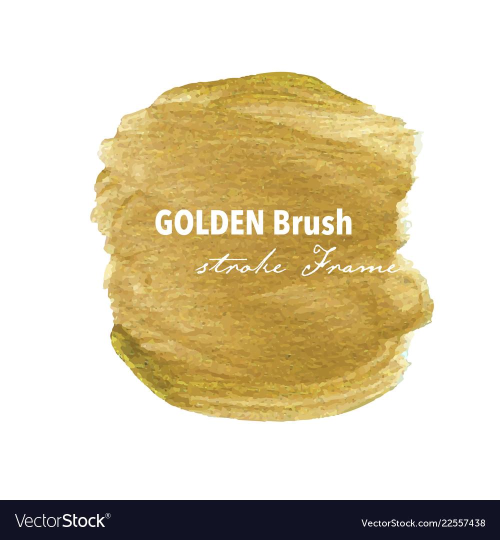 Golden brush stroke frame gold texture paint