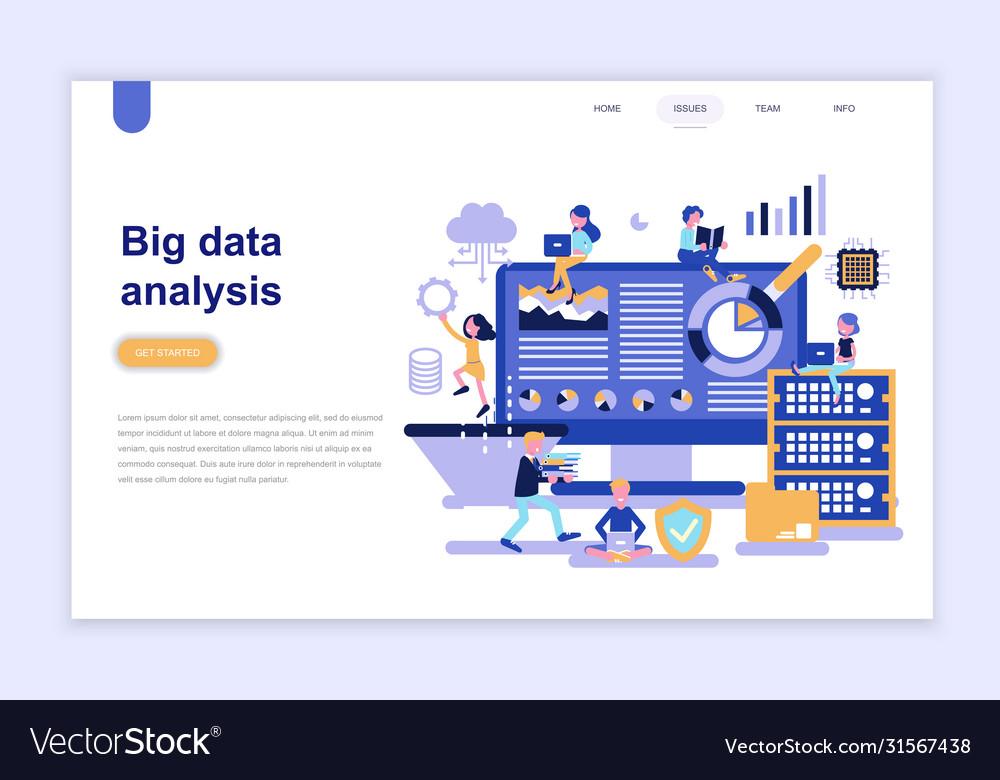 Landing page template big data analysis