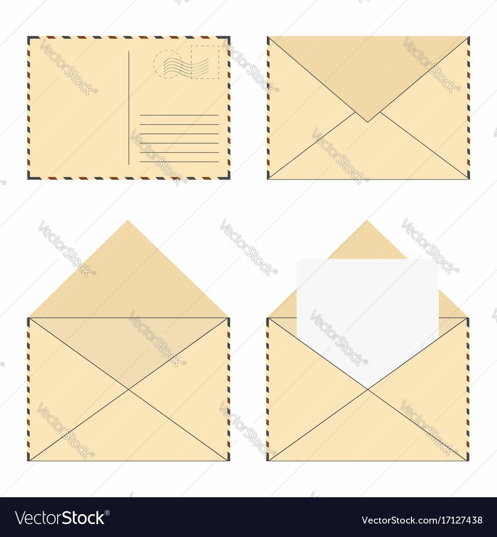Mail envelope set vintage mail envelopes with