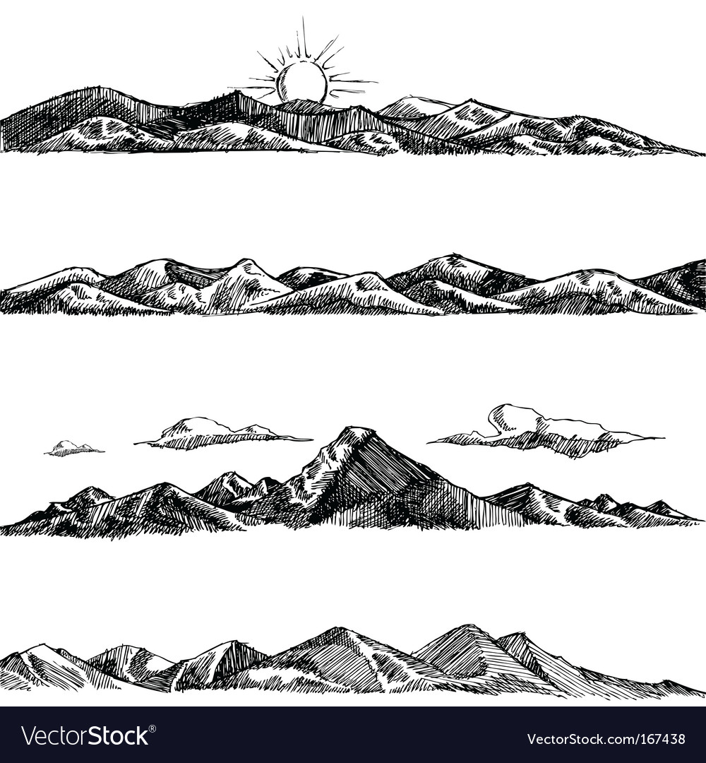 Mountain illustrations vector image